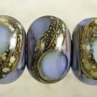 Amethyst Lampwork Glass Beads