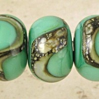 Celadon Lampwork Glass Beads