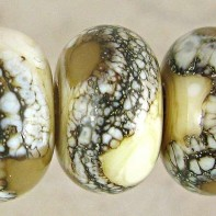 Coffee And Cream Lampwork Glass Beads