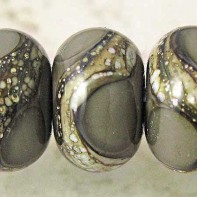 Dark Gray Lampwork Glass Beads