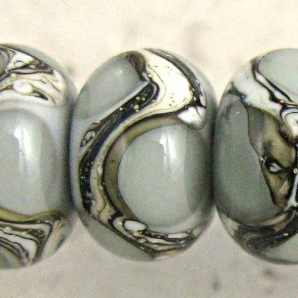 Gray Lampwork Glass Beads