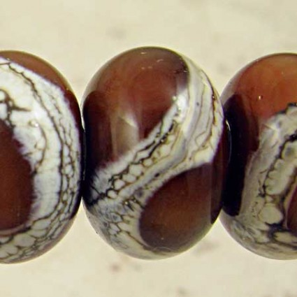 Light Russet Brown Lampwork Glass Beads